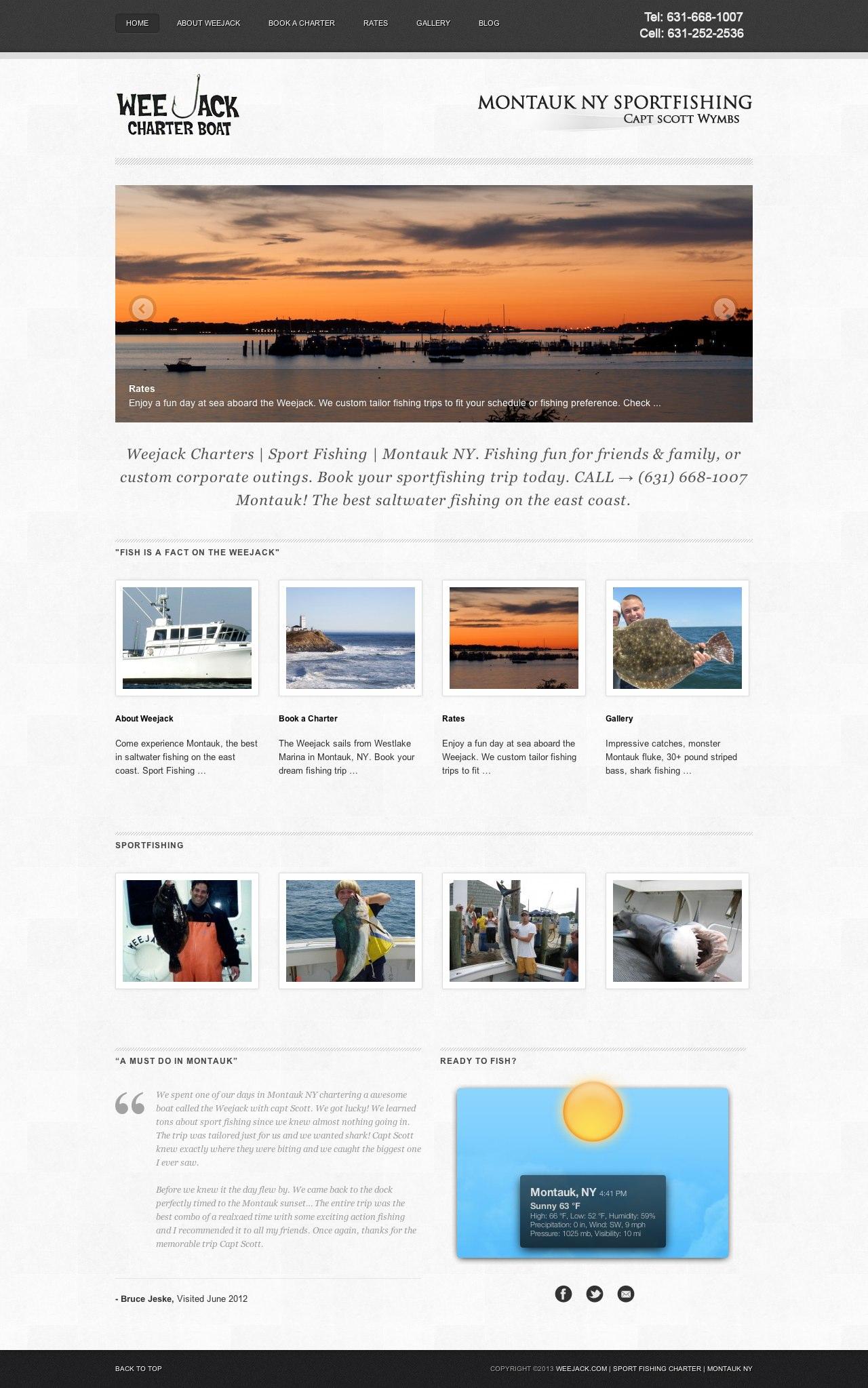 Brand Unum Portfolio - Weejack Charters Website